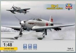 Yak-1 Soviet fighter on skis